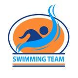 Логотип команды заплывания Стоковая Фотография RF