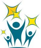 Логотип команды иллюстрация штока