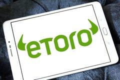 Логотип компании брокерства EToro Стоковые Изображения