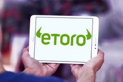 Логотип компании брокерства EToro Стоковое Изображение