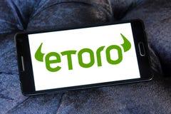 Логотип компании брокерства EToro стоковая фотография