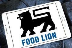 Логотип компании гастронома льва еды Стоковое Изображение