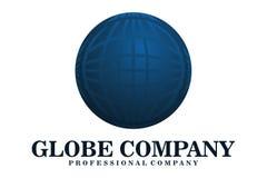 Логотип компании глобуса Стоковое Изображение