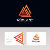 Логотип компании знака значка полигона треугольников Minimalistic геометрический Стоковая Фотография