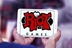 Логотип компании игр бунта Стоковое Фото