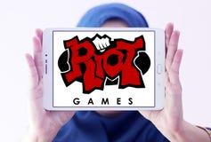 Логотип компании игр бунта Стоковые Фотографии RF