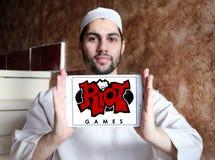 Логотип компании игр бунта Стоковая Фотография RF