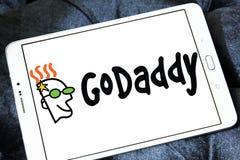 Логотип компании интернета GoDaddy Стоковые Изображения RF