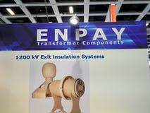 Логотип компании компонентов трансформатора Enpay стоковые фото