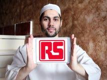 Логотип компании компонентов RS стоковое изображение rf
