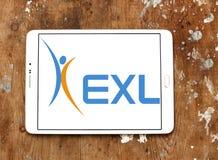 Логотип компании обслуживаний предприятий EXL Стоковые Изображения