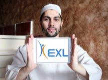 Логотип компании обслуживаний предприятий EXL Стоковое фото RF