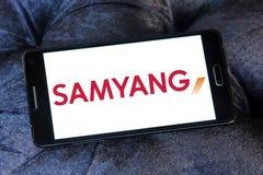 Логотип компании оптики Samyang Стоковое Фото