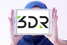 логотип компании робототехники 3D Стоковые Фотографии RF