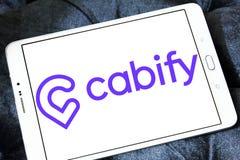 Логотип компании сети транспорта Cabify Стоковые Изображения RF