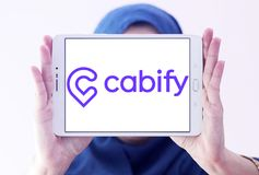 Логотип компании сети транспорта Cabify Стоковое Изображение RF