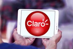 Логотип компании телекоммуникаций Америк Claro стоковая фотография