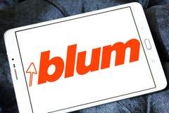 Логотип компании штуцеров мебели Blum Стоковое Изображение