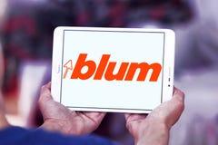 Логотип компании штуцеров мебели Blum Стоковые Изображения