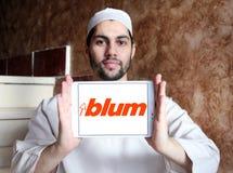 Логотип компании штуцеров мебели Blum Стоковая Фотография RF