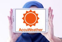 Логотип компании AccuWeather Стоковые Фото