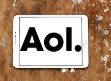 Логотип компании aol Стоковое фото RF