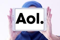Логотип компании aol Стоковые Фотографии RF