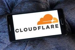 Логотип компании Cloudflare Стоковые Изображения