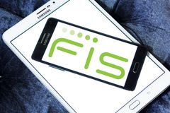 Логотип компании FIS Стоковое Изображение RF