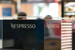 Логотип компании Nespresso Стоковые Фотографии RF