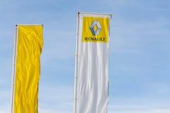 Логотип компании Renault на здании дилерских полномочий Стоковое фото RF