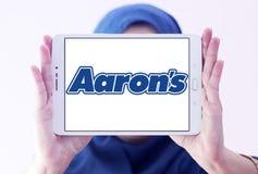 Логотип компании ` s Аарона Стоковое Изображение RF