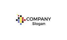 Логотип компания-разработчика программного обеспечения иллюстрация штока