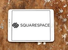Логотип компания-разработчика программного обеспечения Squarespace стоковое изображение rf