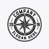 Логотип компаса Шаблон дизайна Compas Вектор и иллюстрация иллюстрация штока
