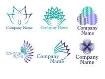 Логотип конспекта и цветка Стоковые Изображения