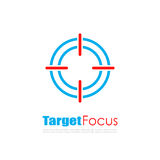Логотип конспекта фокуса цели иллюстрация вектора
