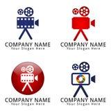Логотип концепции киносъемочного аппарата Стоковое Изображение RF
