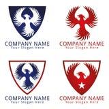 Логотип концепции птицы Феникса Стоковая Фотография RF
