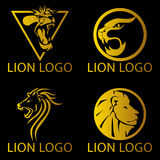 Логотип концепции льва Стоковые Изображения RF