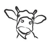 Логотип коровы Стоковое Изображение RF