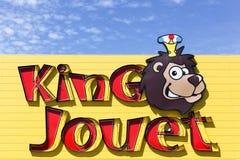 Логотип короля Jouet на стене Стоковое Изображение RF
