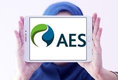 Логотип корпорации энергии AES Стоковое Изображение RF