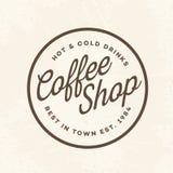 Логотип кофейни с знаком горячим и холодные напитки изолированные на предпосылке для кафа, магазина Стоковое Изображение