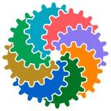 Логотип колес шестерни иллюстрация вектора