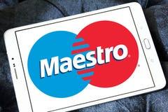 Логотип кредитной карточки маэстро Стоковая Фотография