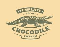 Логотип крокодила - иллюстрация вектора Дизайн эмблемы аллигатора бесплатная иллюстрация