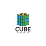 Логотип куба корпоративный Стоковые Фото