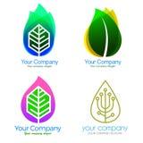 Логотип курорта и вектор значков Стоковые Фото