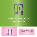 Логотип кухни установленный Стоковое Фото